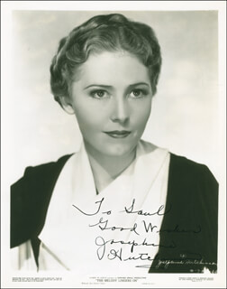 JOSEPHINE HUTCHINSON - AUTOGRAPHED INSCRIBED PHOTOGRAPH CIRCA 1936