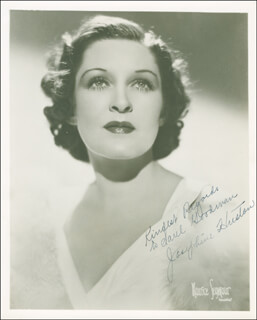 JOSEPHINE HUSTON - AUTOGRAPHED INSCRIBED PHOTOGRAPH CIRCA 1936
