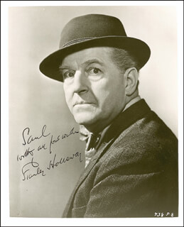 STANLEY HOLLOWAY - AUTOGRAPHED INSCRIBED PHOTOGRAPH CIRCA 1954