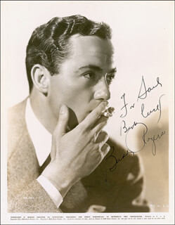 CHARLES BUDDY ROGERS - AUTOGRAPHED INSCRIBED PHOTOGRAPH CIRCA 180.
