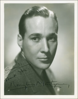 DOUGLASS MONTGOMERY - AUTOGRAPHED INSCRIBED PHOTOGRAPH CIRCA 1935