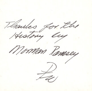 Autographs: ENOLA GAY CREW (PAUL W. TIBBETS) - AUTOGRAPH NOTE SIGNED