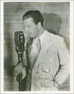 DENNIS KING - AUTOGRAPHED INSCRIBED PHOTOGRAPH CIRCA 1938