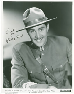 PHILLIP REED - AUTOGRAPHED INSCRIBED PHOTOGRAPH CIRCA 1937