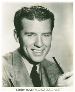 GORDON OLIVER - AUTOGRAPHED INSCRIBED PHOTOGRAPH CIRCA 1941