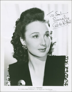 GOOGIE WITHERS - AUTOGRAPHED INSCRIBED PHOTOGRAPH CIRCA 1951