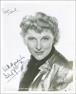 ISOBEL ELSOM - AUTOGRAPHED INSCRIBED PHOTOGRAPH CIRCA 1945