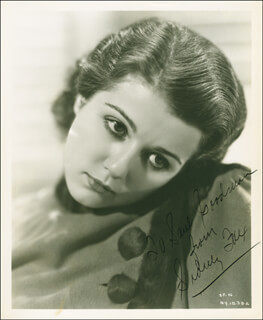 SIDNEY FOX - AUTOGRAPHED INSCRIBED PHOTOGRAPH CIRCA 1934