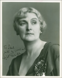 DAME SYBIL THORNDIKE - AUTOGRAPHED INSCRIBED PHOTOGRAPH CIRCA 1934