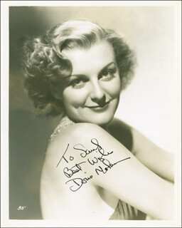 DORIS NOLAN - AUTOGRAPHED INSCRIBED PHOTOGRAPH CIRCA 1936
