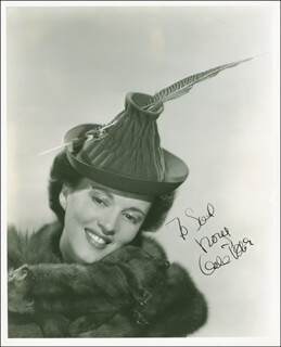 GALE PAGE - AUTOGRAPHED INSCRIBED PHOTOGRAPH CIRCA 1940