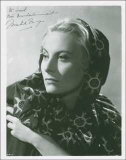 MICHELE MORGAN - AUTOGRAPHED INSCRIBED PHOTOGRAPH CIRCA 1953