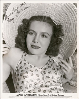 BEBE (MARY ANDERSON) ANDERSON - AUTOGRAPHED INSCRIBED PHOTOGRAPH