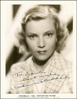 ANNABELLA - AUTOGRAPHED INSCRIBED PHOTOGRAPH CIRCA 1938