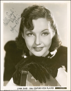 LYNN BARI - AUTOGRAPHED INSCRIBED PHOTOGRAPH