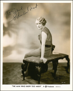 EDNA BEST - AUTOGRAPHED INSCRIBED PHOTOGRAPH CIRCA 1940