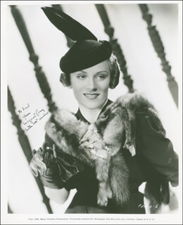 MARGARET PERRY - AUTOGRAPHED INSCRIBED PHOTOGRAPH CIRCA 1937