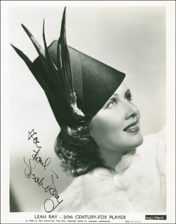 LEAH RAY - AUTOGRAPHED INSCRIBED PHOTOGRAPH CIRCA 1938