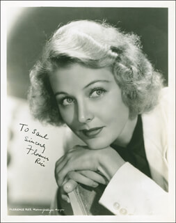 FLORENCE RICE - AUTOGRAPHED INSCRIBED PHOTOGRAPH CIRCA 1938