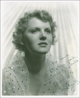 BEVERLY ROBERTS - AUTOGRAPHED INSCRIBED PHOTOGRAPH CIRCA 1938