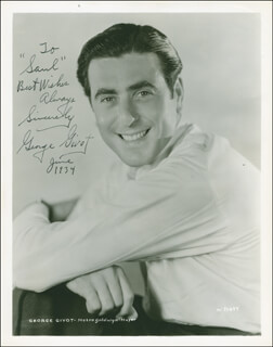 GEORGE GIVOT - AUTOGRAPHED INSCRIBED PHOTOGRAPH 6/1934