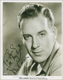 DICK FORAN - AUTOGRAPHED INSCRIBED PHOTOGRAPH CIRCA 1939