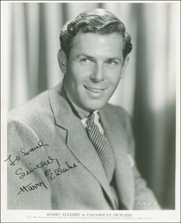 HARRY ELLERBE - AUTOGRAPHED INSCRIBED PHOTOGRAPH CIRCA 1936
