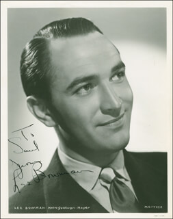 LEE BOWMAN - AUTOGRAPHED INSCRIBED PHOTOGRAPH CIRCA 1943