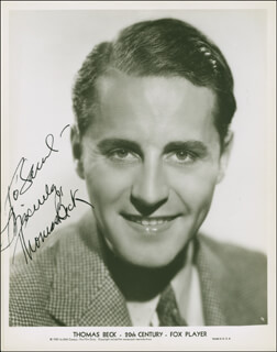 THOMAS BECK - AUTOGRAPHED INSCRIBED PHOTOGRAPH
