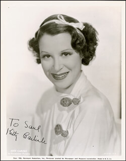 KITTY CARLISLE - AUTOGRAPHED INSCRIBED PHOTOGRAPH CIRCA 1935