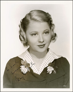 MARY CARLISLE - AUTOGRAPHED INSCRIBED PHOTOGRAPH CIRCA 1936