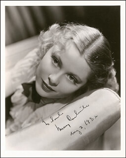 MARY CARLISLE - AUTOGRAPHED INSCRIBED PHOTOGRAPH 08/03/1936