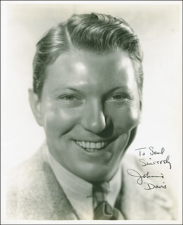 JOHNNIE SCAT DAVIS - AUTOGRAPHED INSCRIBED PHOTOGRAPH CIRCA 1954
