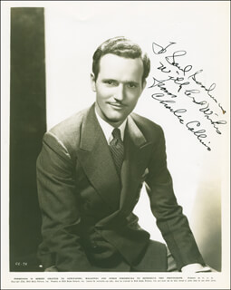 CHARLES COLLINS - AUTOGRAPHED INSCRIBED PHOTOGRAPH CIRCA 1936