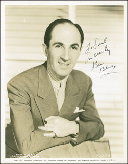 BEN BLUE - AUTOGRAPHED INSCRIBED PHOTOGRAPH CIRCA 1938
