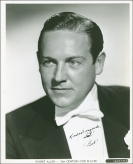 ROBERT ALLEN - AUTOGRAPHED INSCRIBED PHOTOGRAPH CIRCA 1941