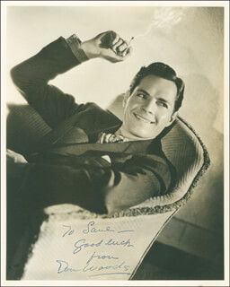 DONALD WOODS - AUTOGRAPHED INSCRIBED PHOTOGRAPH CIRCA 1937