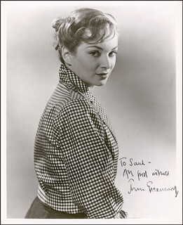 JOAN GREENWOOD - AUTOGRAPHED INSCRIBED PHOTOGRAPH CIRCA 1954