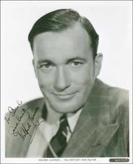 WILFRID LAWSON - AUTOGRAPHED INSCRIBED PHOTOGRAPH CIRCA 1937