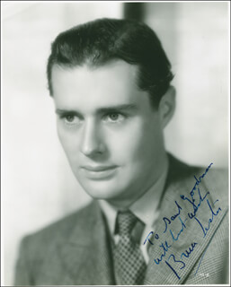 BRUCE LESTER - AUTOGRAPHED INSCRIBED PHOTOGRAPH CIRCA 1940