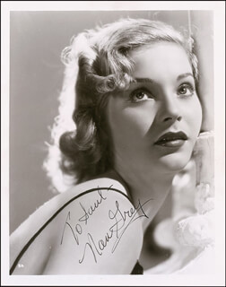 NAN GREY - AUTOGRAPHED INSCRIBED PHOTOGRAPH CIRCA 1941