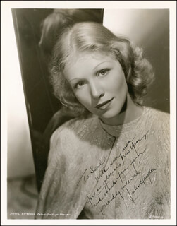 JULIE HAYDON - AUTOGRAPHED INSCRIBED PHOTOGRAPH CIRCA 1937