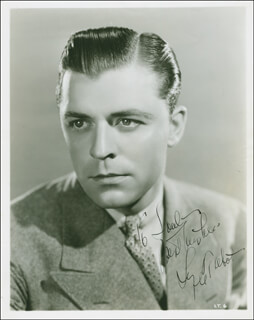 LYLE TALBOT - AUTOGRAPHED INSCRIBED PHOTOGRAPH CIRCA 1935