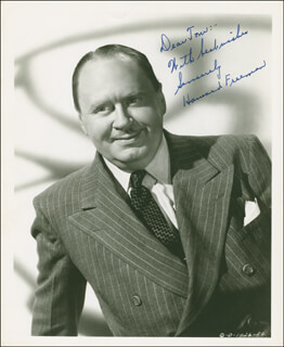 HOWARD FREEMAN - AUTOGRAPHED INSCRIBED PHOTOGRAPH