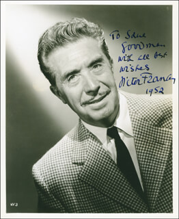 VICTOR FRANCEN - AUTOGRAPHED INSCRIBED PHOTOGRAPH 1952