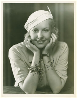 JUNE KNIGHT - AUTOGRAPHED INSCRIBED PHOTOGRAPH CIRCA 1935