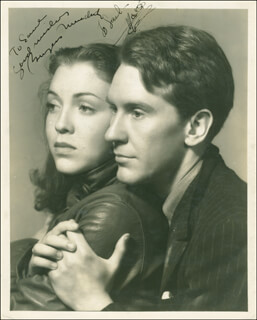 WINTERSET MOVIE CAST - AUTOGRAPHED INSCRIBED PHOTOGRAPH CIRCA 1936 CO-SIGNED BY: BURGESS MEREDITH, MARGO (MARGO ALBERT)