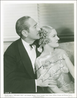 MILKY WAY MOVIE CAST, THE - AUTOGRAPHED SIGNED PHOTOGRAPH CIRCA 1936 CO-SIGNED BY: VERREE TEASDALE, ADOLPHE MENJOU