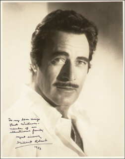 GILBERT ROLAND - AUTOGRAPHED INSCRIBED PHOTOGRAPH 1958