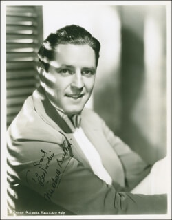 Autographs: MICHAEL BARTLETT - INSCRIBED PHOTOGRAPH SIGNED CIRCA 1937